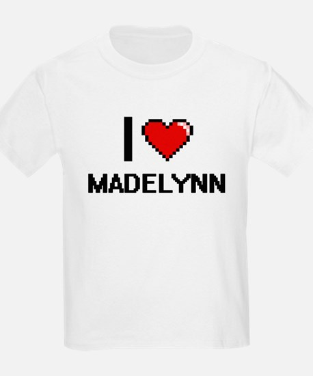 I Love Madelynn Digital Retro Design T-Shirt