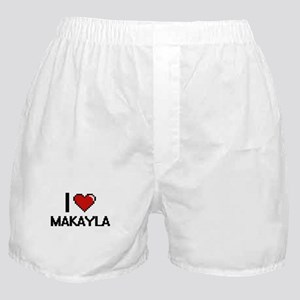 I Love Makayla Digital Retro Design Boxer Shorts