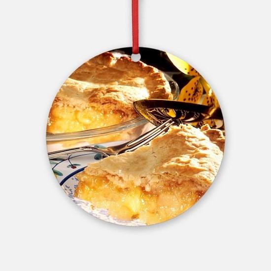 Apple Pie Dessert Ornament (Round)