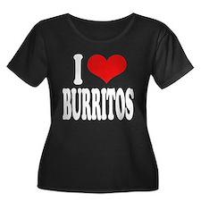 I Love Burritos Women's Plus Size Scoop Neck Dark