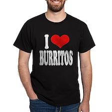 I Love Burritos Dark T-Shirt