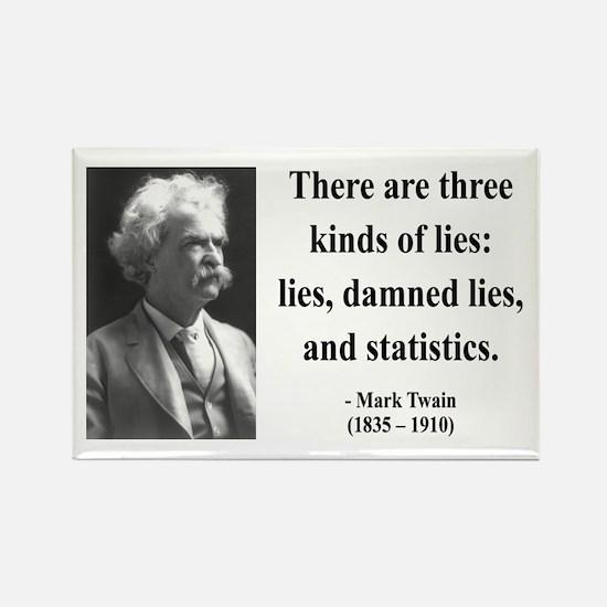 Mark Twain 18 Rectangle Magnet