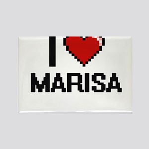 I Love Marisa Digital Retro Design Magnets