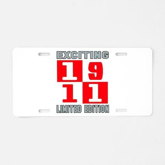 Exciting 1911 Limited Editi Aluminum License Plate