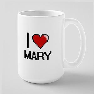 I Love Mary Digital Retro Design Mugs