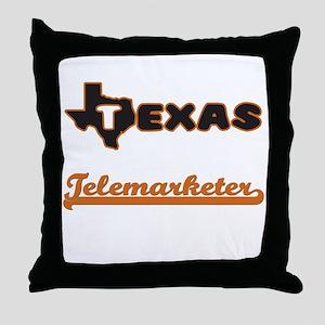 Texas Telemarketer Throw Pillow