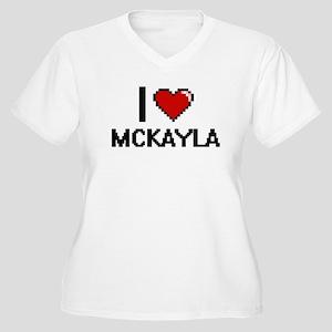 I Love Mckayla Digital Retro Des Plus Size T-Shirt