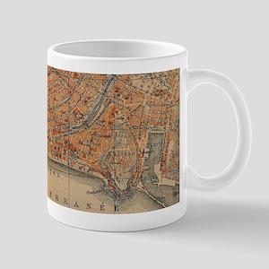 Vintage Map of Nice France (1914) Mugs