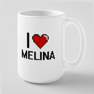 I Love Melina Digital Retro Design Mugs