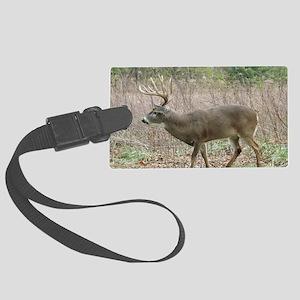 Whitetail buck Large Luggage Tag