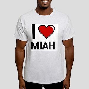 I Love Miah Digital Retro Design T-Shirt