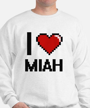 I Love Miah Digital Retro Design Sweater