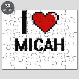 I Love Micah Digital Retro Design Puzzle