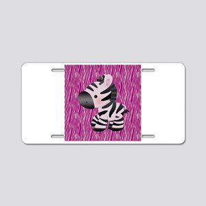 Baby Zebra For Kids Aluminum License Plate