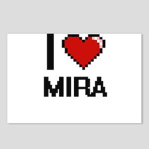 I Love Mira Digital Retro Postcards (Package of 8)
