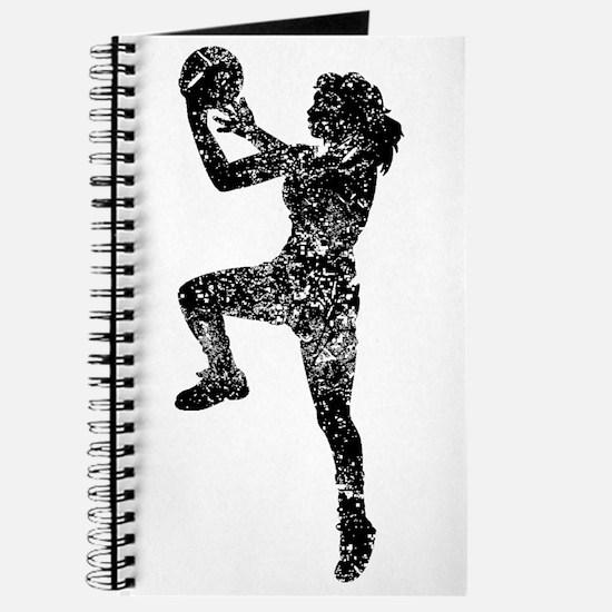 Vintage Womens Basketball Player Journal