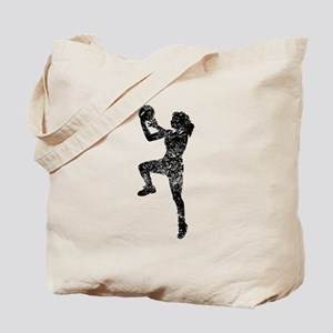 Vintage Womens Basketball Player Tote Bag