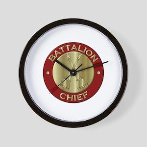 battalion chief brass fire department Wall Clock