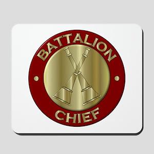 battalion chief brass fire department Mousepad