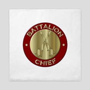 battalion chief brass fire department Queen Duvet