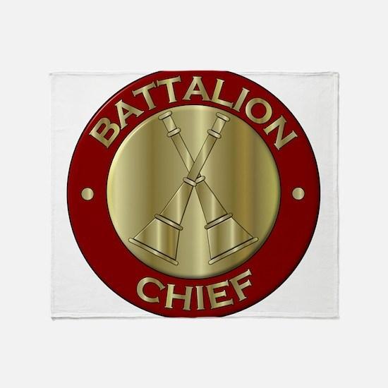 battalion chief brass fire departmen Throw Blanket