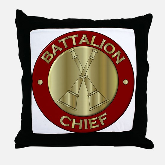 battalion chief brass fire department Throw Pillow