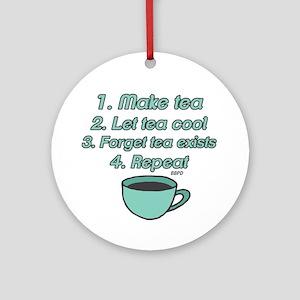 Tea Lover Humor Ornament (Round)