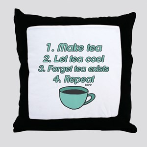 Tea Lover Humor Throw Pillow