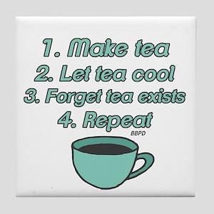 Tea Lover Humor Tile Coaster