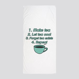 Tea Lover Humor Beach Towel