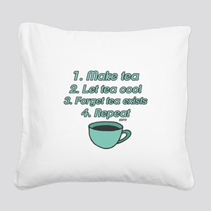 Tea Lover Humor Square Canvas Pillow