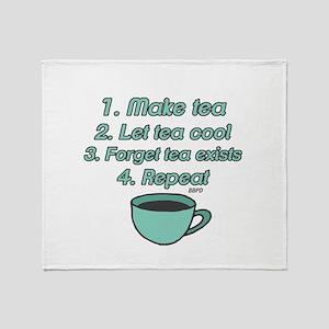 Tea Lover Humor Throw Blanket