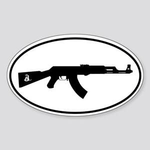 AK Oval with Snake Sticker