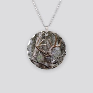 Hideaway Buck Necklace Circle Charm