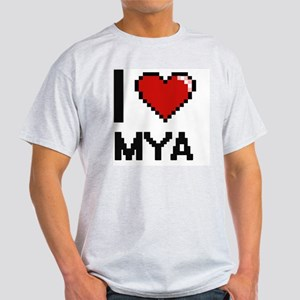 I Love Mya Digital Retro Design T-Shirt