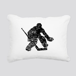 Vintage Hockey Goalie Rectangular Canvas Pillow