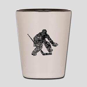 Vintage Hockey Goalie Shot Glass