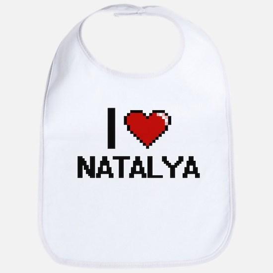 I Love Natalya Digital Retro Design Bib