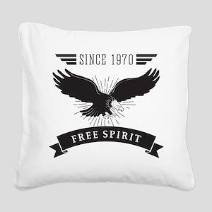Birthday Born 1970 Free Spiri Square Canvas Pillow