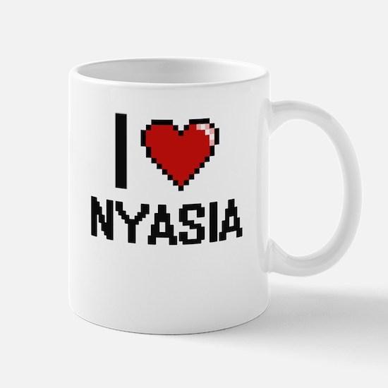 I Love Nyasia Digital Retro Design Mugs