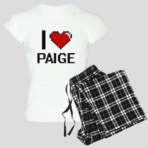 I Love Paige Digital Retro Women's Light Pajamas