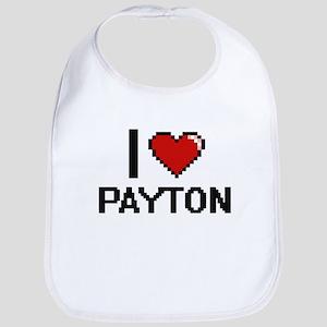 I Love Payton Digital Retro Design Bib