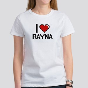 I Love Rayna Digital Retro Design T-Shirt