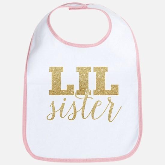Glitter Lil Sister Bib