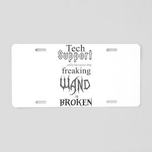 Wand Aluminum License Plate