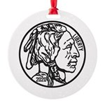Buffalo Nickel Ornament