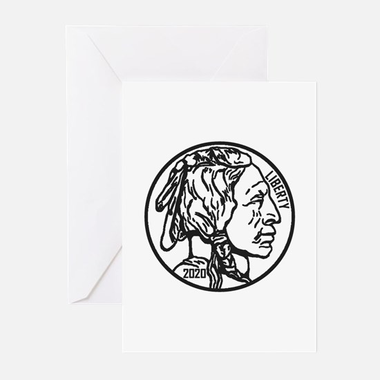 Buffalo Nickel Greeting Cards