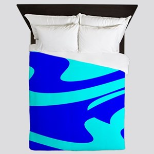Turquoise Wild Wave Randy's Fave Queen Duvet