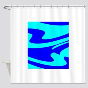 Turquoise Wild Wave Randy's Fave Shower Curtain