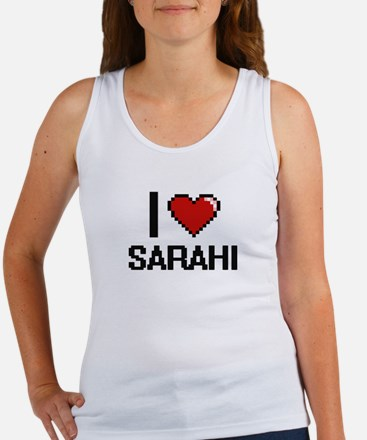 I Love Sarahi Digital Retro Design Tank Top